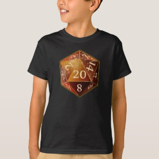 D&D D20 Sandstone and Tan Sahara Die T-Shirt